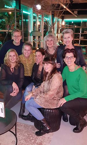 teamfoto, Astrid, Maarten, Heidi, Lil, Jose, Wendy, Patricia